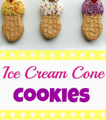 Ice Cream Cone Cookies on a white plate