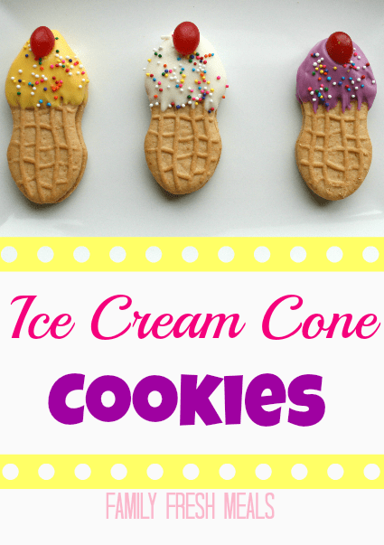 Ice Cream Cone Cookies - Fun edible craft -  FamilyFreshMeals.com