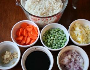 cauliflower fried rice, ingredients - FamilyFreshMeals.com