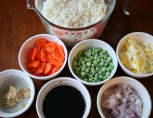 cauliflower fried rice, ingredients - FamilyFreshMeals.com