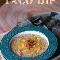 Crockpot Taco Bean Dip