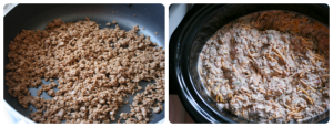 Crockpot Taco Bean Dip Steps