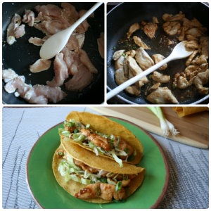 Chinese Chicken Tacos Steps