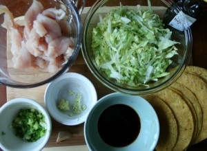 Chinese Chicken Tacos - Ingredients