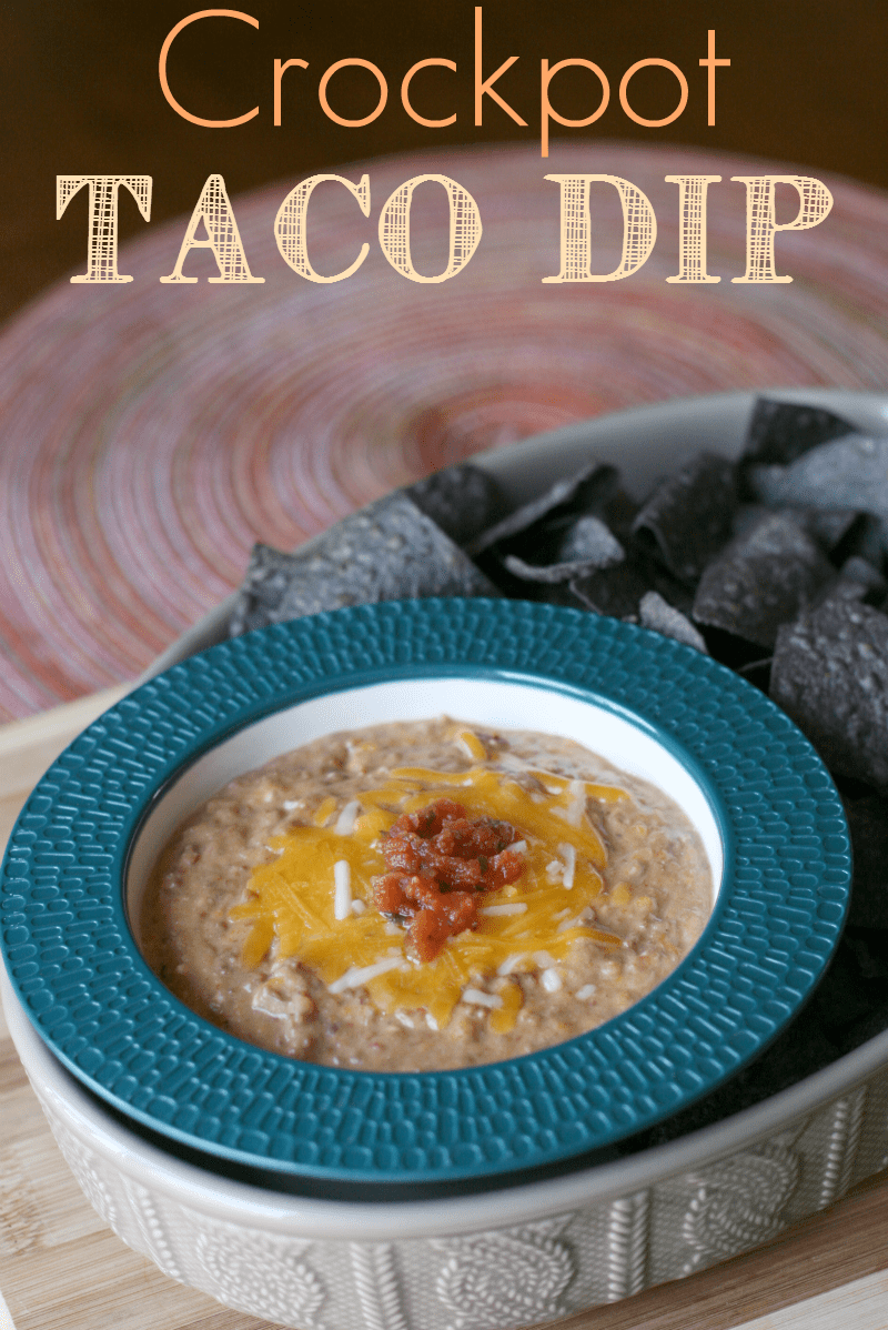 Crockpot Taco Bean Dip via @familyfresh