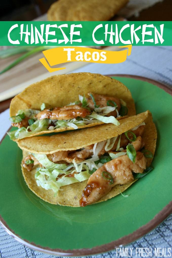 chinese chicken tacos - FamilyFreshMeals.com