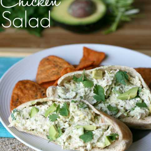 Avocado Greek Yogurt Chicken Salad Pita - FamilyFreshMeals.com