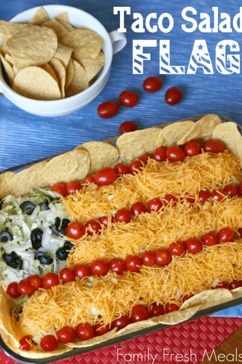 Top down image of Easy Taco Salad Flag