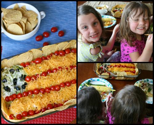 Flag Taco Salad - FamilyFreshMeals.com