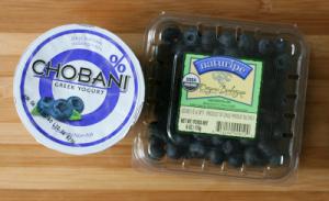 Frozen yogurt covered blueberries - ingredients