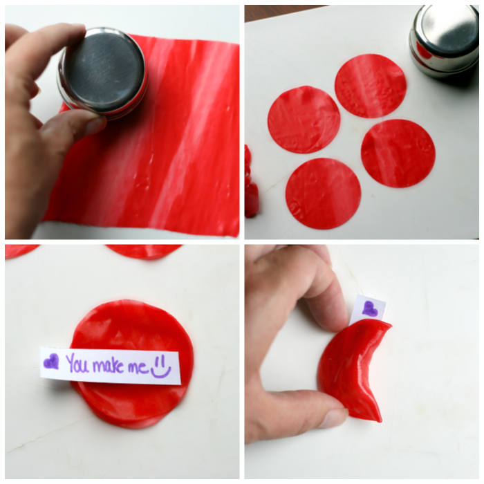 Fruit Leather Fortune Cookies - steps