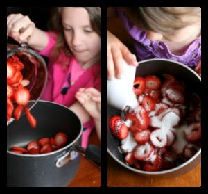 Homemade Strawberry Cobbler - Steps 1-2