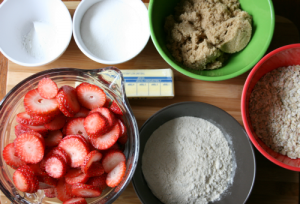 Strawberry Cobbler - ingredients