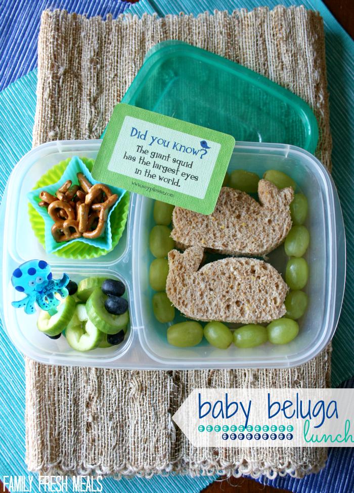 Baby Beluga Lunch with Lunchbox Love- FamilyFreshMeals.com