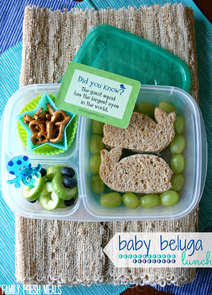 Baby Beluga Lunch with Lunchbox Love- FamilyFreshMeals.com