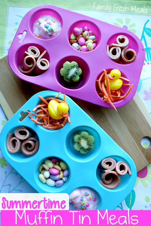 Summer Lunch Ideas for Kids: Muffin Tin Meals - FamilyFreshMeals.com