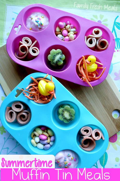 Summer Lunch Ideas for Kids: Muffin Tin Meals - FamilyFreshMeals.com