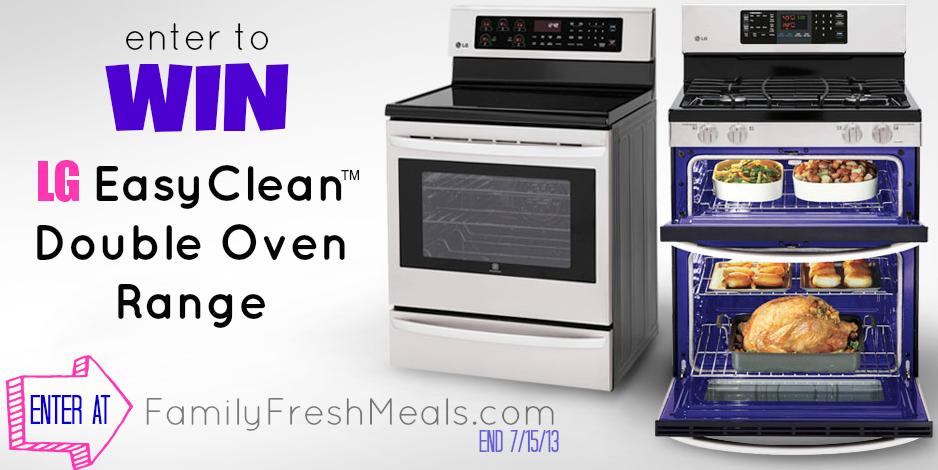 Win LG Easy Clean Double Oven Range