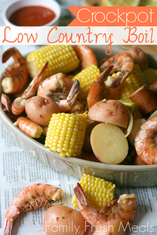 Crockpot Low Country Boil - FamilyFreshMeals.com Fun Summer Meal 5