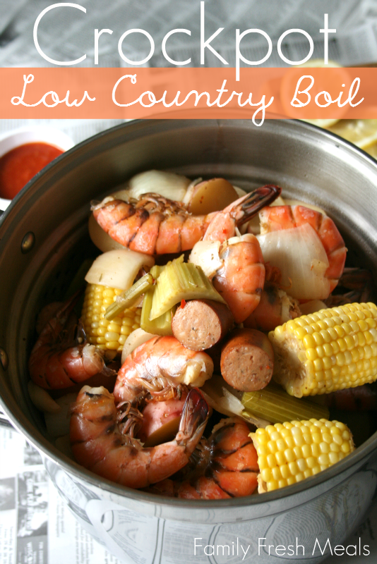 Crockpot Low Country Boil Recipe - Easy recipe from Family Fresh Meals