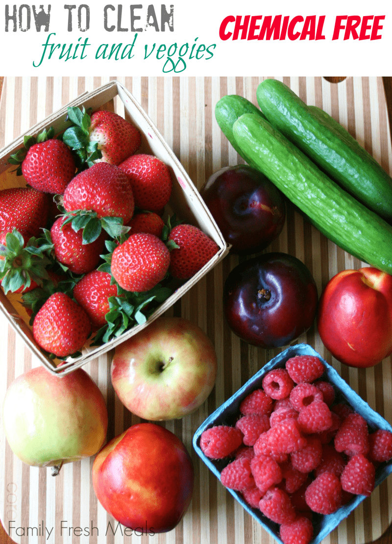 Here is an EASY trick, How to Clean Fruits and Vegetables chemical free. via @familyfresh