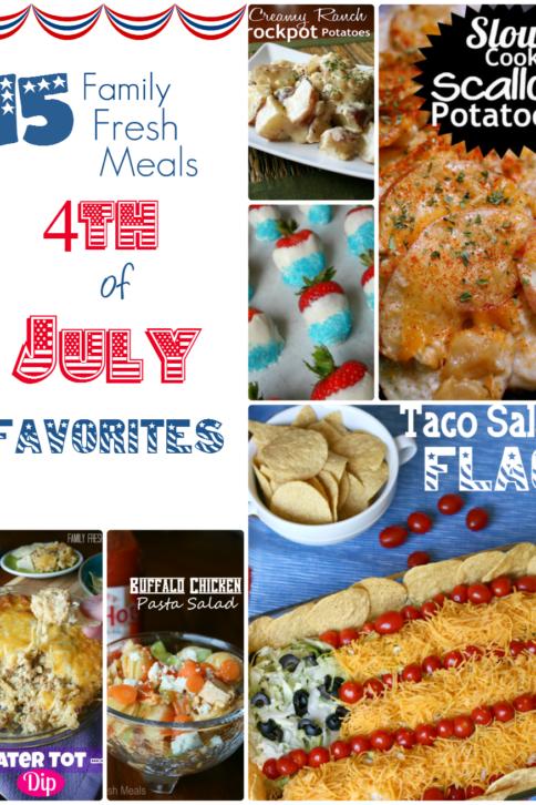 Fourth of July Favorites - FamilyFreshMeals.com