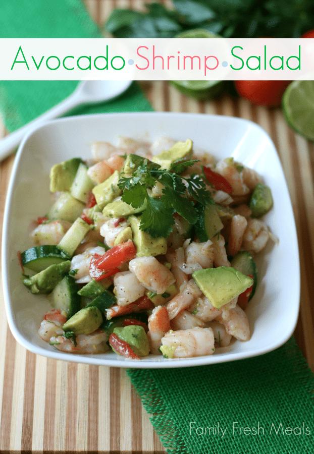 Avocado Shrimp Salad --_-- FamilyFreshMeals.com