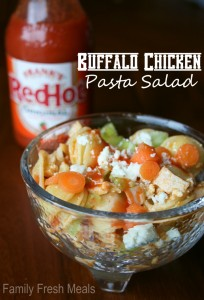 Buffalo Chicken Pasta Salad - FamilyFreshMeals.com