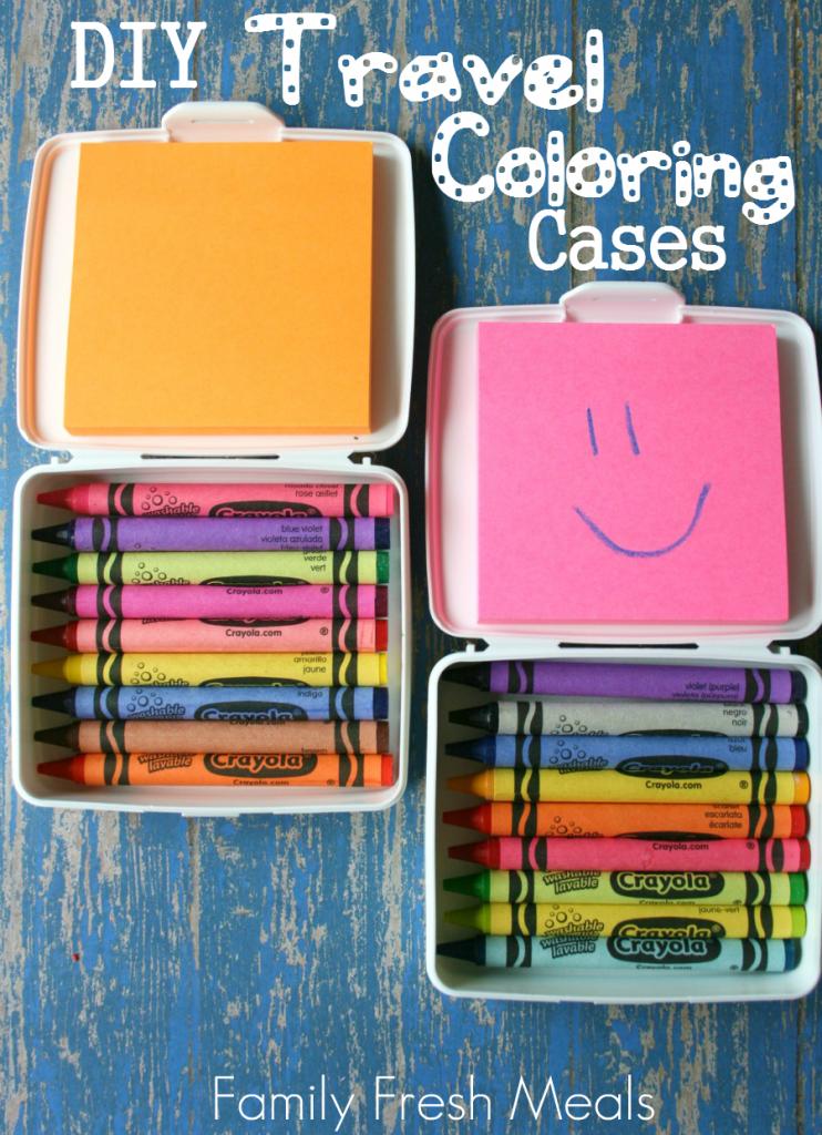 DIY Travel Coloring Cases - FamilyFreshMeals.com