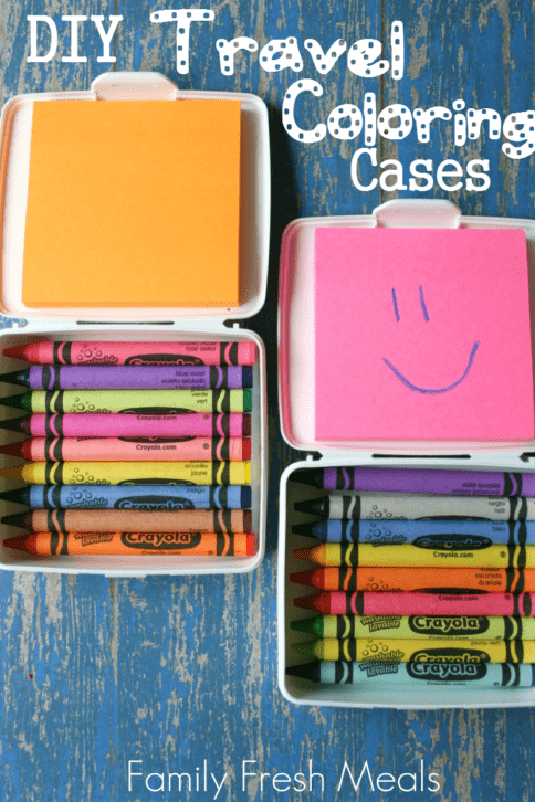 Top down image of DIY Travel Coloring Cases