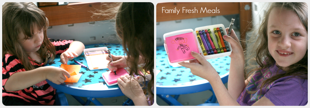 DIY Traveling Coloring Case - So Fun! Family Fresh Meals