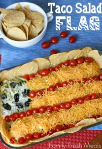 Easy Taco Salad Flag - FamilyFreshMeals.com