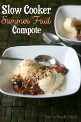 Slow Cooker Summer Fruit Compote