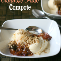 Slow Cooker Summer Fruit Compote