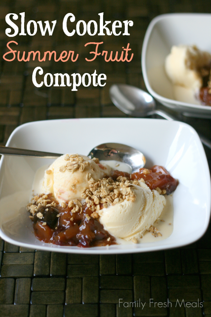 Summer fruit compote - FamilyFreshMeals.com