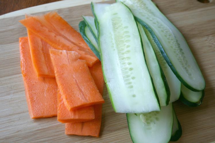 Tofu Vegetable Rolls- Step 1