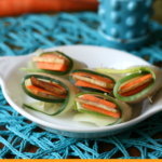 Wildwood Easy Tofu Vegetable Rolls with Green and Black Burger