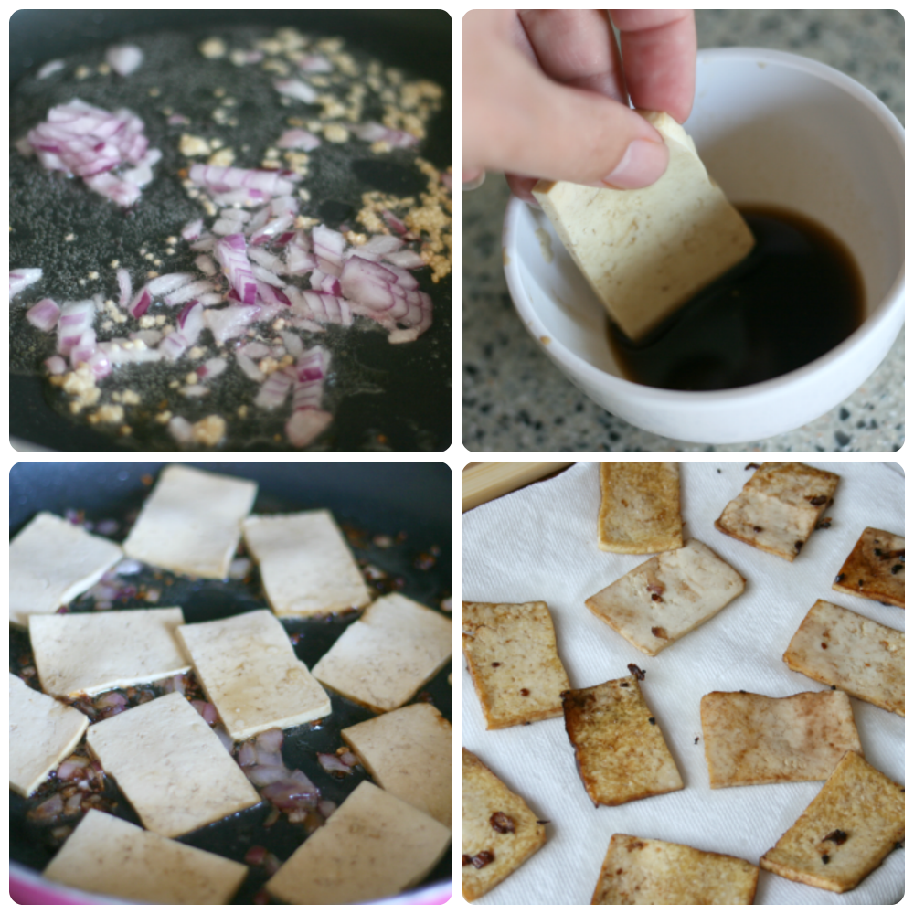 Tofu Vegetable Rolls - Steps