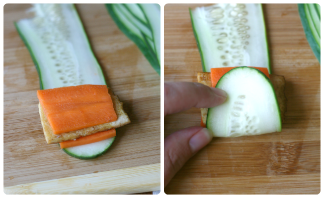 Tofu Vegetable Spring Rolls - How to Roll