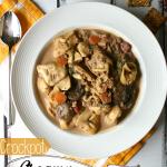 Creamy Crockpot Tortellini Soup