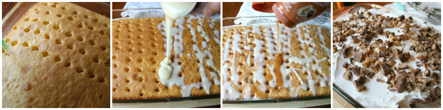 Easy Candy Bar Poke Cake Recipe - Step