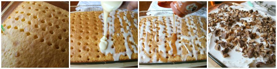 Easy Candy Bar Poke Cake Recipe - Step