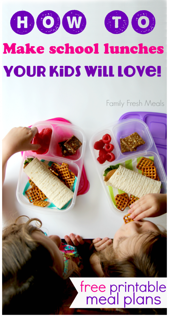 How to pack lunches your kids will love! Back to School Lunch Meal Plans with MOMables