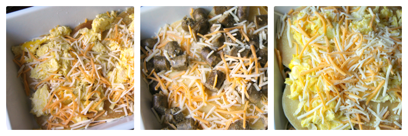 Breakfast Lasagna Casserole - Steps - Family Fresh Meals