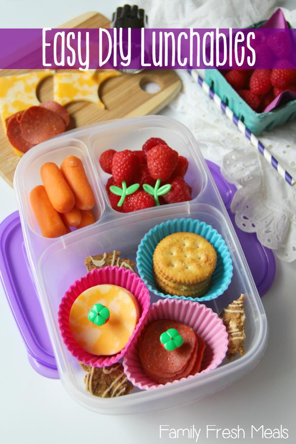 Easy Peasy DIY Lunchables -- FamilyFreshMeals.com