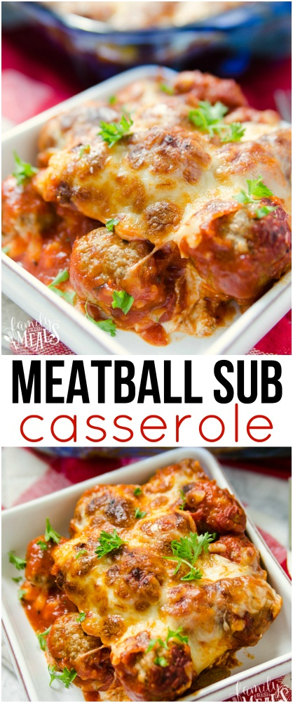 Meatball Sub Casserole is a family favorite and kid approved recipe! via @familyfresh