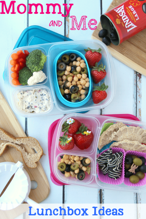 top down view of two packed lunchboxes