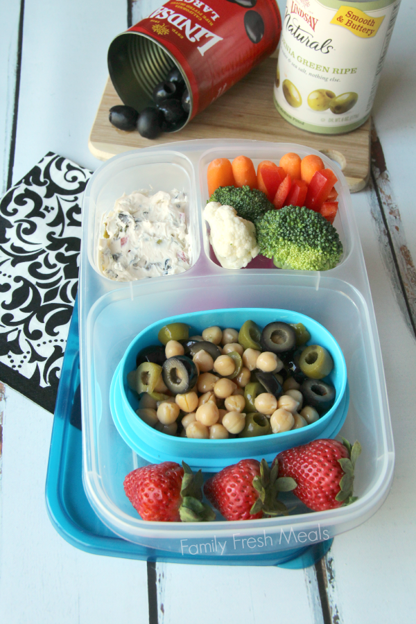 a packed lunch box container