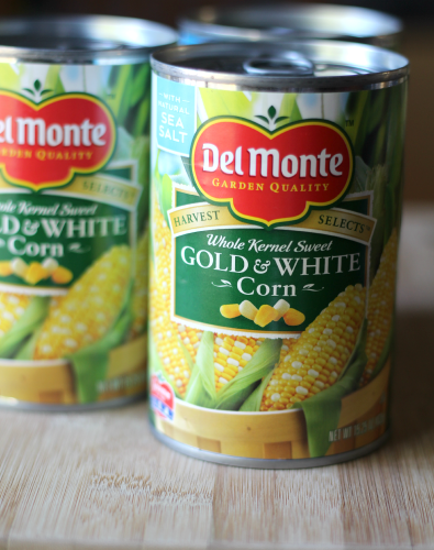 Crcokpot Creamed Corn made with Del Monte Harvest Select  FamilyFreshMeals.com