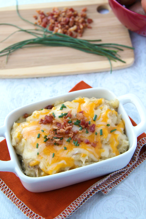 Easy Cheesy Crockpot Mashed Potatoes - Family Fresh Meals